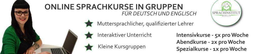 Online-Sprachkurse fuer DEutsch und Englisch am Sprachinstitut Berlin